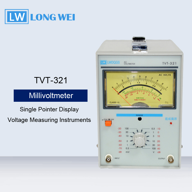 TVT-321 Single Needle Single Channel Millivoltmeter Voltage Measuring Instruments AC Voltmeter Measure Frequency 5Hz-1MHz