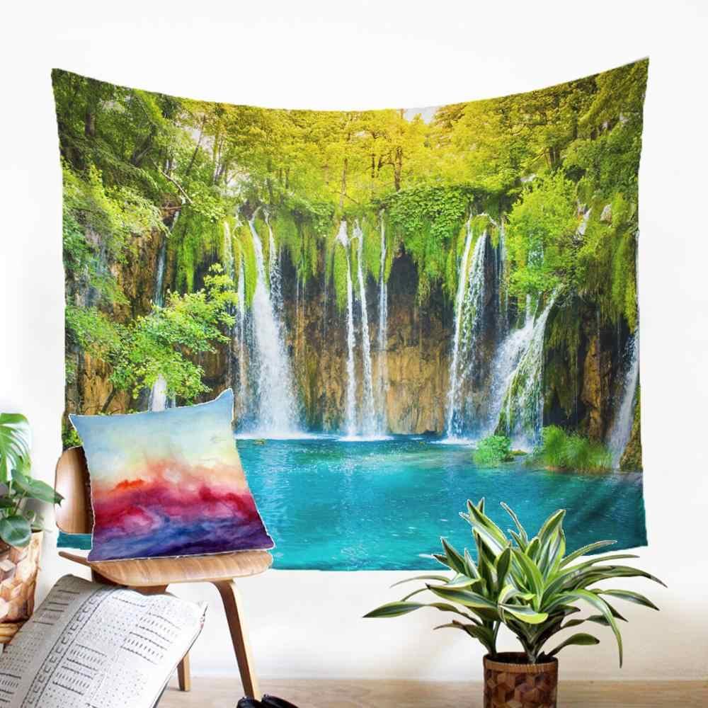 ทิวทัศน์ที่สวยงามพิมพ์ Tapestry Raiven Stream Motif Gobelin Beauteous พรมพรมตกแต่งบ้านโมเดิร์น Farmhosue Decor