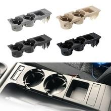 Compartimento central para coche Soporte para vasos sostenedor de botella de bebida de la moneda para Bmw Serie 3 E46 318I 320I 98 06 51168217953 negro
