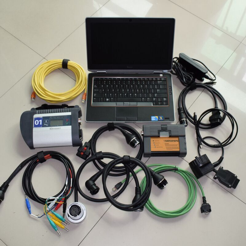 Best 2in1 wifi mb star c4 for bmw icom a2 with laptop e6320 i5 4g with newest software hdd 1tb all cables full set ready to use