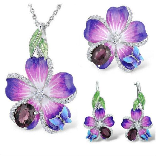 Butterfly Flower Silver...
