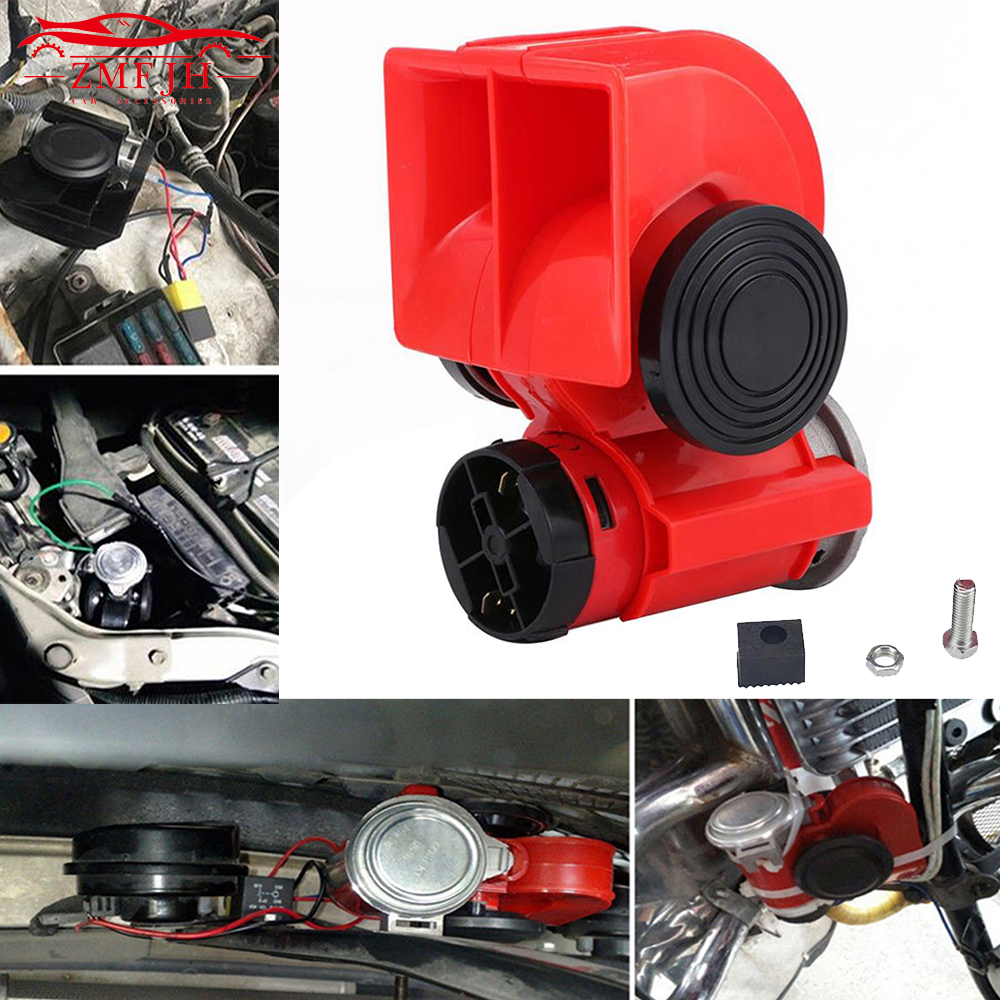 150dB Snail Horn Air Dual Trumpet Super Loud Electricity Machine Truck For Train Lorry Boat Motorcycle Car