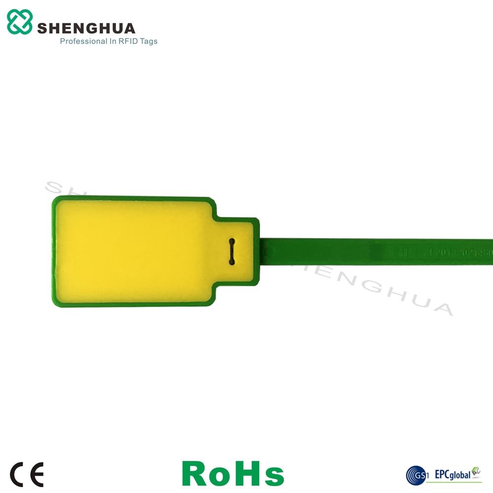 10pcs/pack Adjustable Plastic UHF Passive RFID Cable Tie Tag 860-960MHz ISO18000-6C Long Range For Logistics Management