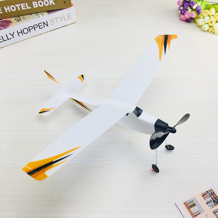 Foam Airplane Rubber Band Airplane Knight Rubber Band Power 3D Lightning Airplane Cabin Body Plastic Non-Model Airplane