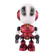 Mini Alloy Robot Sensing LED Rc Toys Gesture Control Multi-function Robotics Music Body Diy For Kids Voice Gift Toys T1T9