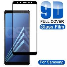 9D Vidro De Proteção Sobre o Para Samsung Galaxy A5 A7 A9 J2 J8 2018 A6 A8 J4 J6 Plus 2018 filme Protetor de Tela De Vidro temperado