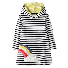 Детские платья для девочек с единорогом; Vestidos; г.; осенне-зимняя одежда для маленьких девочек; Детский костюм; платье принцессы с аппликацией в виде животных