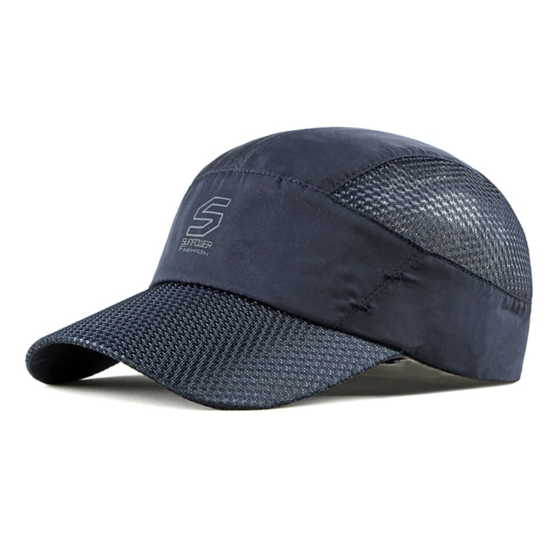 Outdoor Sport Mesh Hat Summer Thin Quick Drying Breathable Hat Quick-drying Summer Visor Climbing Hunting Travel Running Cap