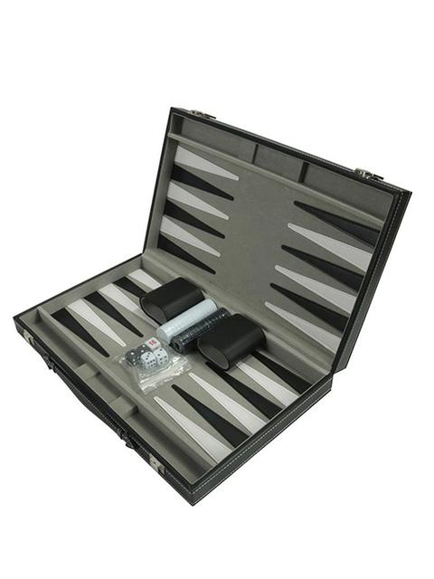 Portable Leather Chessboard PU Chess Board Portable Backgammon Board Puzzle Game Table Game Chess Box 1