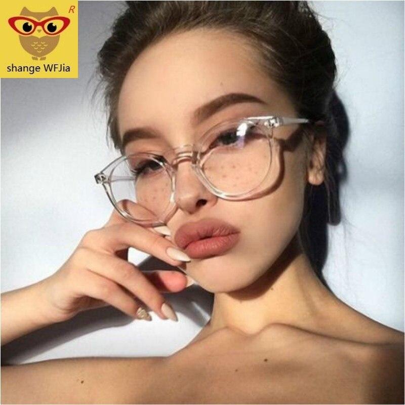 Fashion Transparent Round Glasses Clear Frame Women Spectacle Myopia Glasses  Men EyeGlasses Frame Nerd Optical Frames Clear