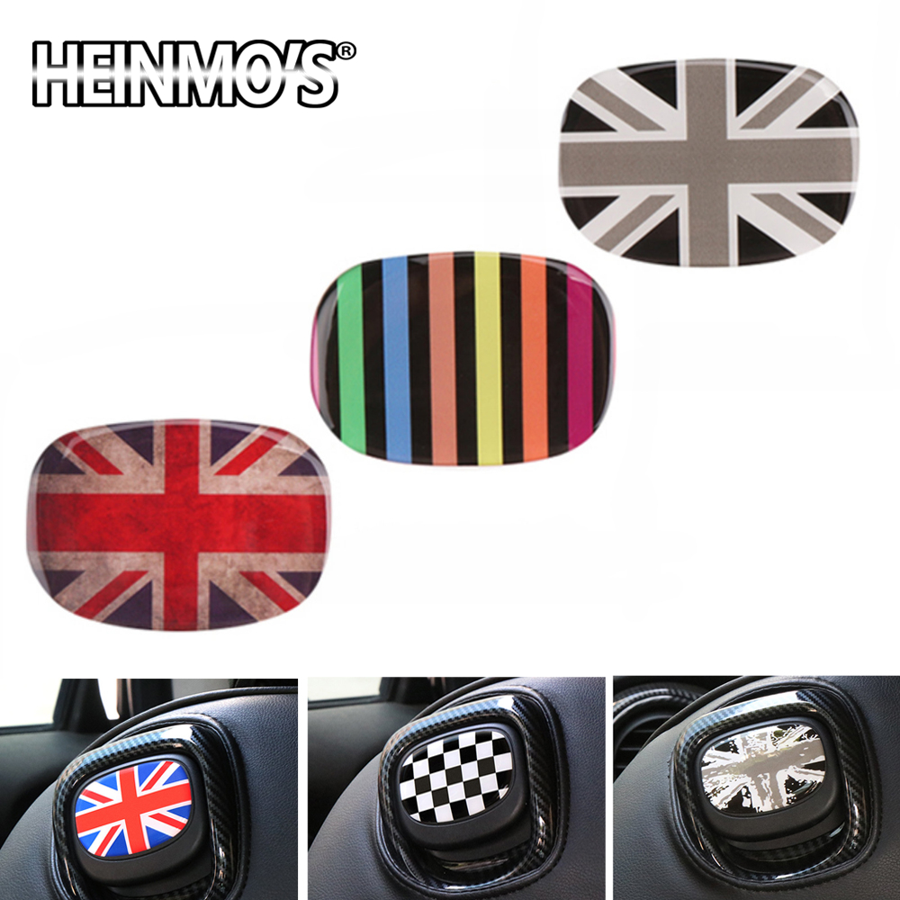 Car Decal Styling Accessories Interior Decoration Rear Seat Handle Stickers Protection Cover For Mini Cooper JCW F56 F 56 F-56