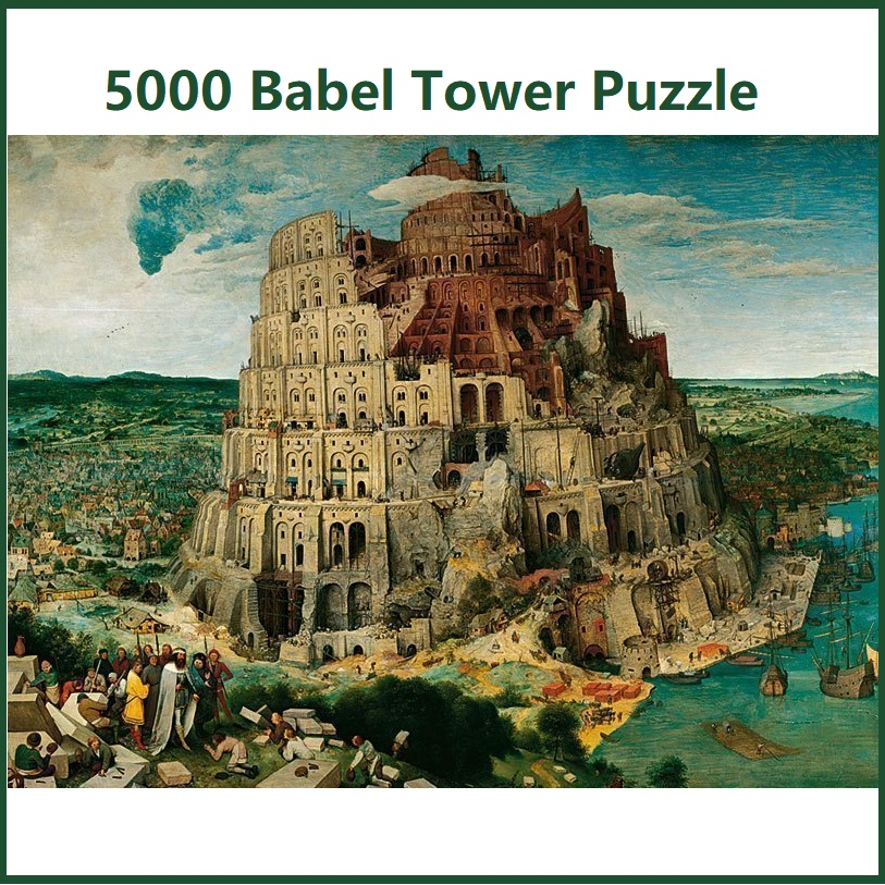 NEW High Quality Assembling Scenery Building Babel Tower 5000 Pieces Jigsaw Puzzle For Adult Gift