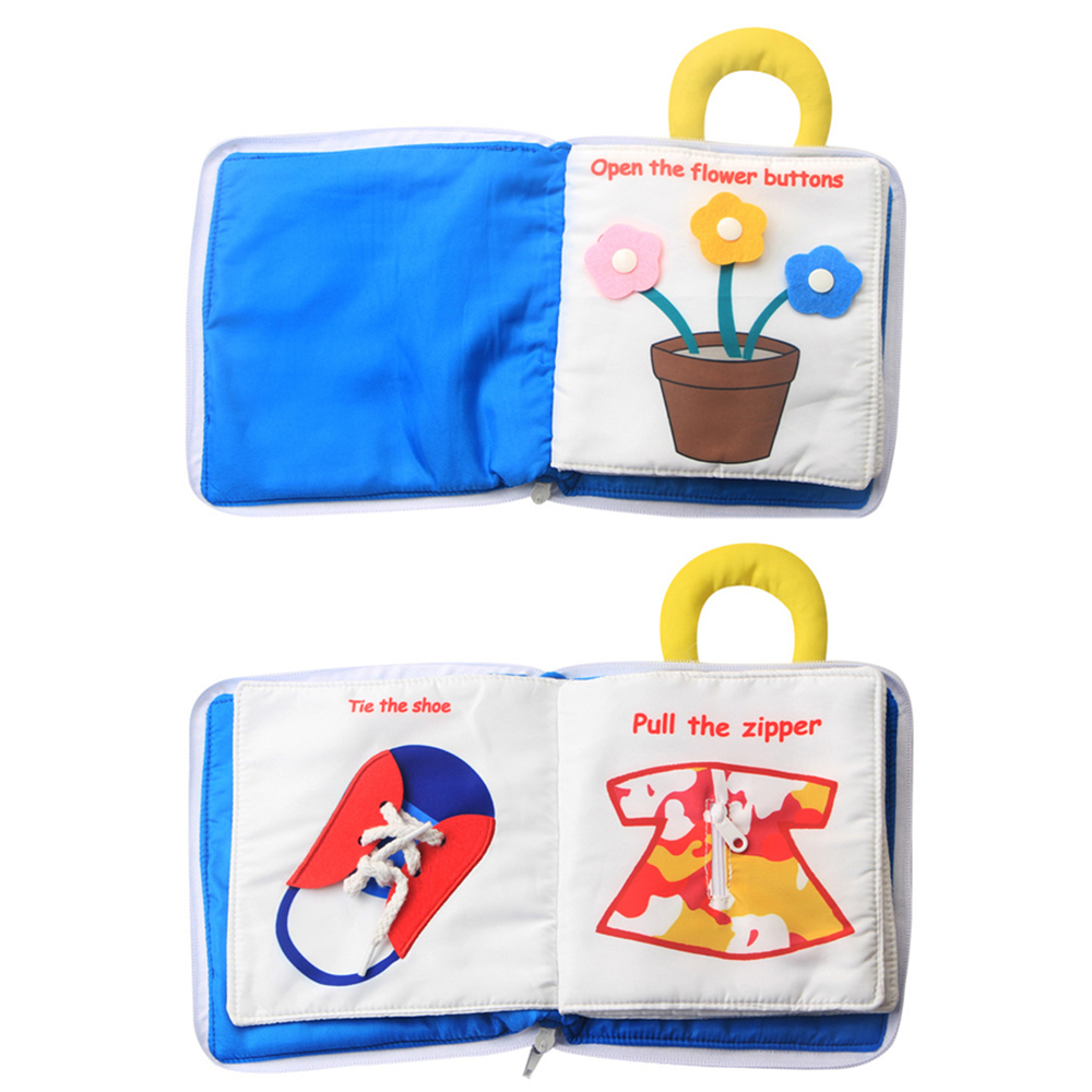 Baby Cloth Book Soft Washable 3D Parent-Children Interactive My First Book Practice Hand Early Learning Educational Quite Books 4