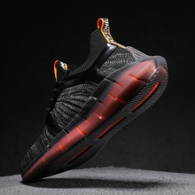 Summer Sneakers Men Shoes in Shoes Men's Casual Shoes Mesh Fabric Sneakers Stylish Lace Up Flats Shoes Breath New Big Size 45 46