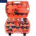18 stücke Universal Kühler Druck Tester Tool Kit Kühlung System Testing Werkzeug Wasser Tank Leckage Detektor Nylon Material-in Motor-Pflege aus Kraftfahrzeuge und Motorräder bei