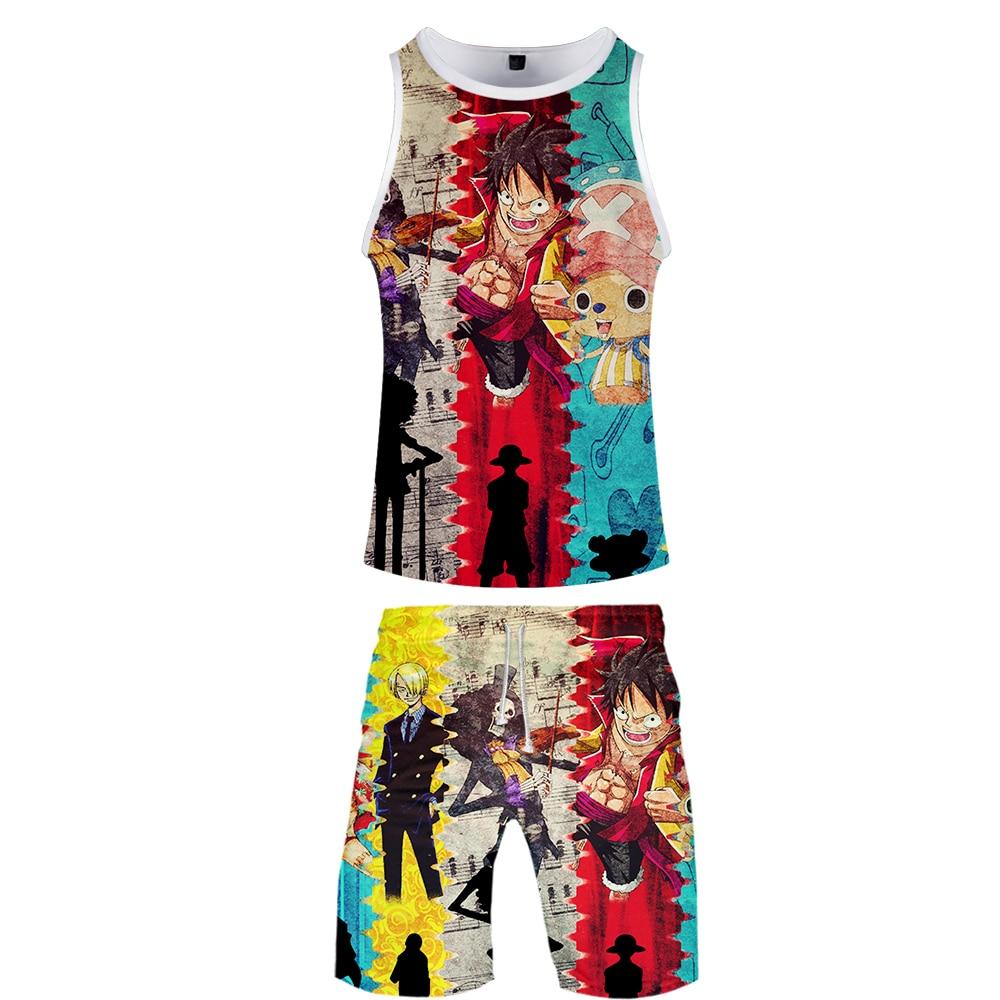 2019 One Piece Two Piece Set Tank Top And Shorts Harajuku Men One Piece Tank Top Streetwear Basketball Sleeveless Sport