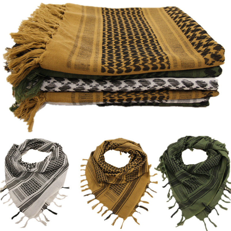 Outdoor Camping Tactics Arabian Square Scarf Thick Middle East Cotton Warm Cold-proof Handkerchief Collar Scarf
