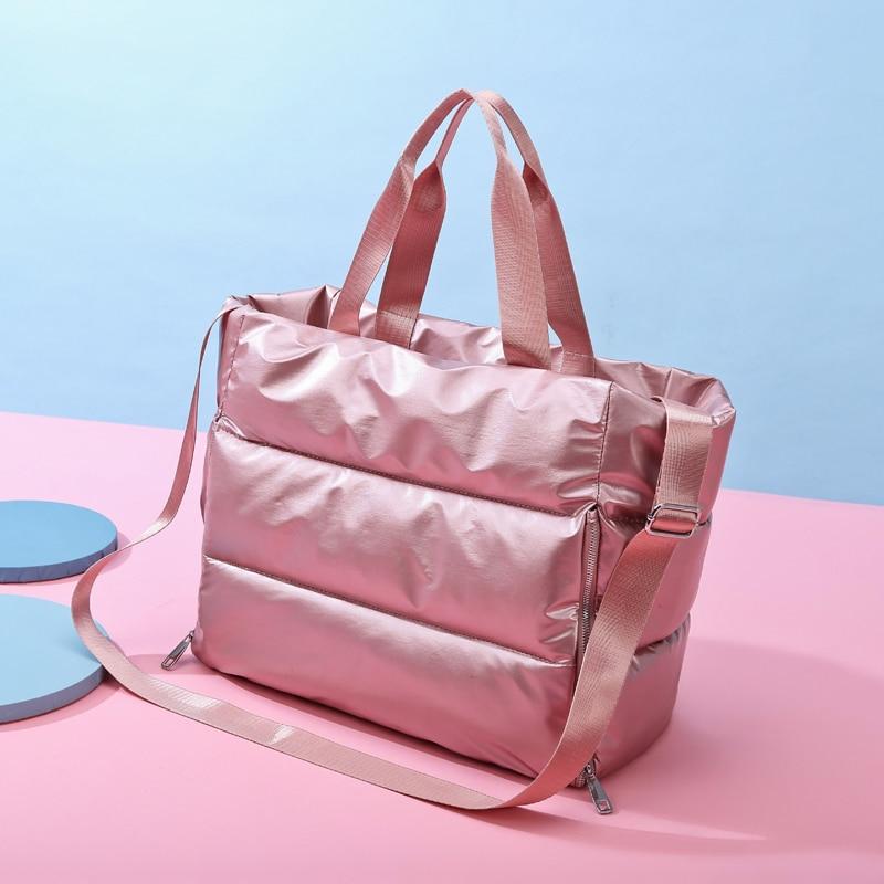 Nylon Gym Bags Tas For Fitness Sac De Sports Bag Woman Training Gymtas Bolsa Deporte Handbags Dry Wet Separate Travelling Pack