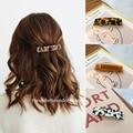 Vintage Acetat Rechteck Haarnadeln Haar Clips Einfarbig Marmor Print Side Clips Frauen Barrettes Grips Haar Zubehör