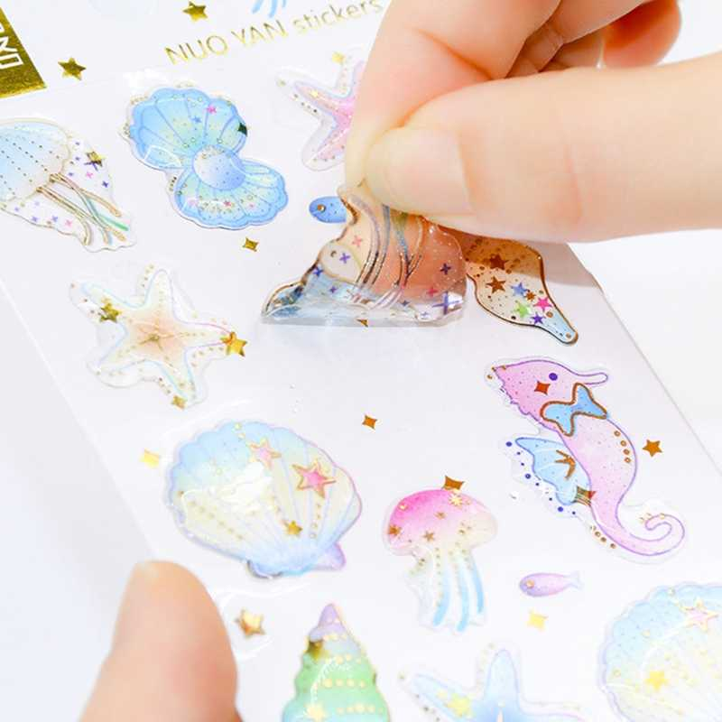 Наклейка Морская жизнь Космос Вселенная 3D клей эпоксидный дневник в стиле Скрапбукинг наклейка s на ноутбук скейтборд игрушки для детские наклейки