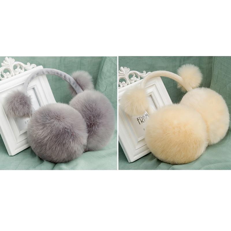 Winter Earmuffs Lovers Ear Warmer Plush Faux Fur Girl Ladies 12 Colors Hot Plush Earmuffs With Bow Plush Winter Ear Warmers