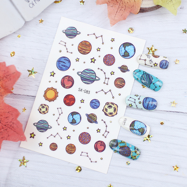 Фото наклейка для детей фрукты луна звездная смола пинтинг 3d украшение