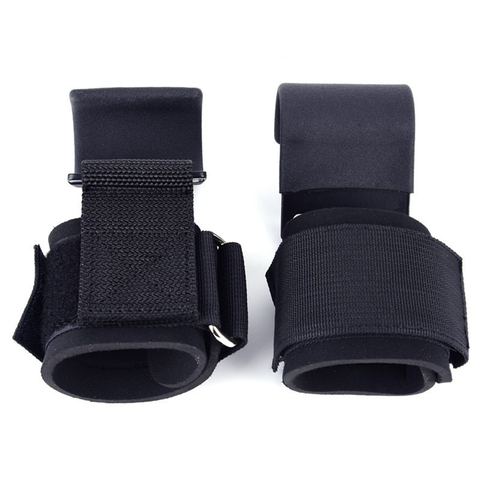 Levantamento de Peso Cintas de Pulso Tiras de Gancho Fit para Powerlifting Adulto Ajustável Anti-slip Guarda Pulso Halterofilismo Pull-up 1 Par