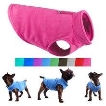 Kış polar Pet köpek giyim köpek giyim fransız Bulldog ceket Pug kostümleri ceket için küçük köpekler Chihuahua yelek Hondenkleding