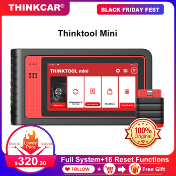 THINKCAR Thinktool Mini Automotive Scanner Oil ABS Reset Car Diagnostic Tool ECU Coding Active Test OBD2 Scanner Professional launch x431 v 8 inch bluetooth wi fi full system car diagnostic tool support ecu coding x 431 v mini auto scanner obd2 scanner