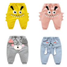 Детские милые штаны для мальчиков и девочек с высокой талией