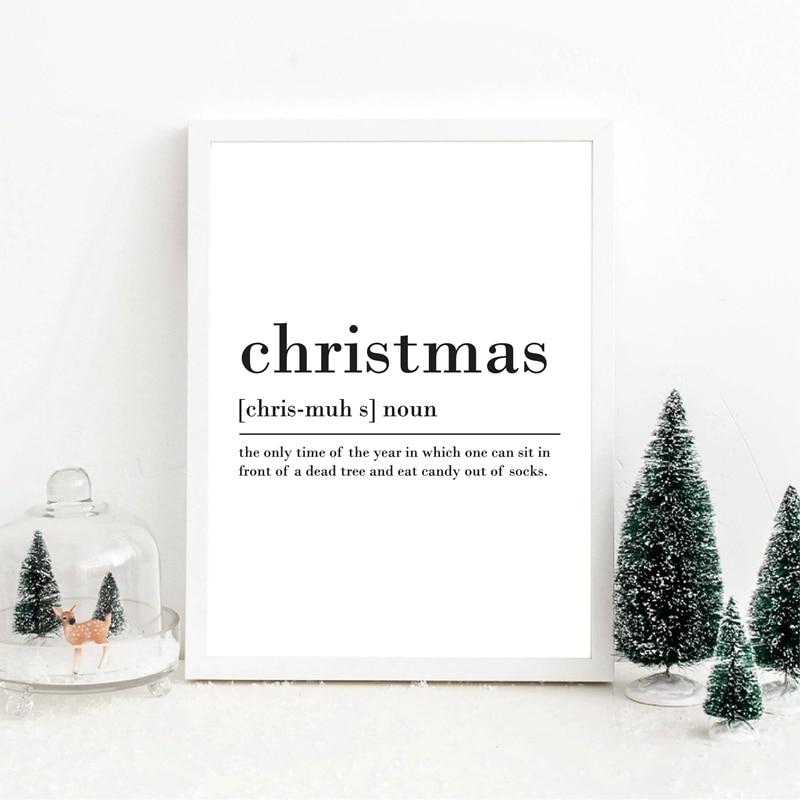 Купить modern christmas theme minimalist english words frameless canvas