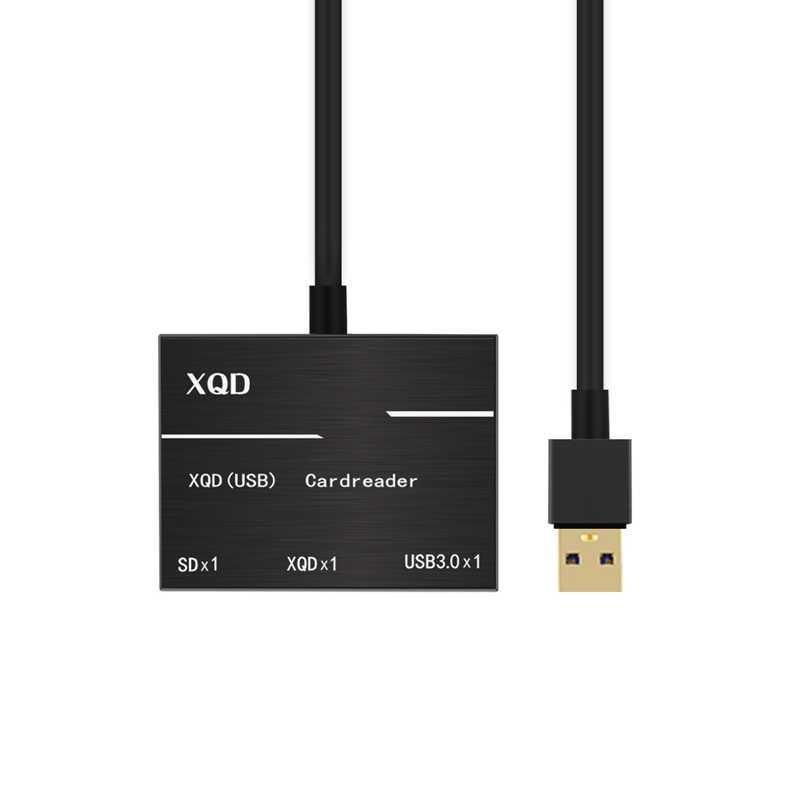 قارئ بطاقات سبائك الألومنيوم صور فيديو Type-C ذاكرة فلاش كاميرا USB3.0/2.0 XQD ABS المحمولة لسلسلة سوني G