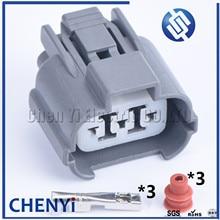 5 sets 3 Pin Sumitomo Automotive Waterproof Connector HeadLight Leveling Device Plug 6189-0130 For Honda Accord B-Series VSS