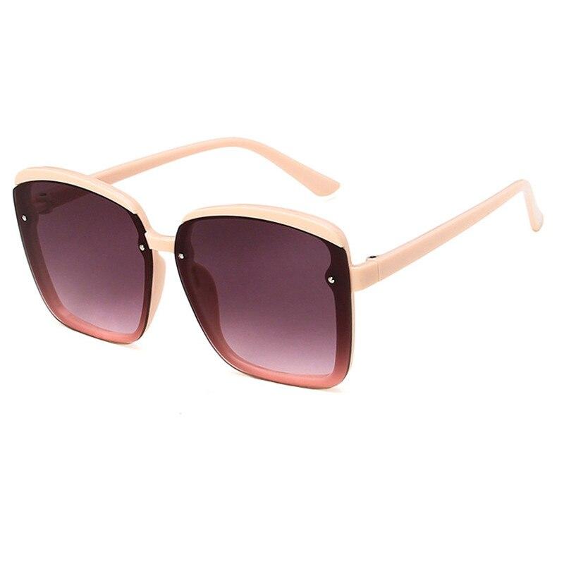 New Square Sunglasses Women Fashion Brand Design Oversized Sun Glasses Female Shades Color Ocean Lenses Eyewear UV400