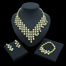 Yulaili Vintage Fashion Dubai Gold Jewelry Sets for Women African Beads Necklace Earrings Bracelet Party Wedding Accessories недорого
