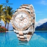 New PAGANI Design mens watches quartz business wristwatch top luxury brand men chronograph fashion gold watch man Reloj hombres