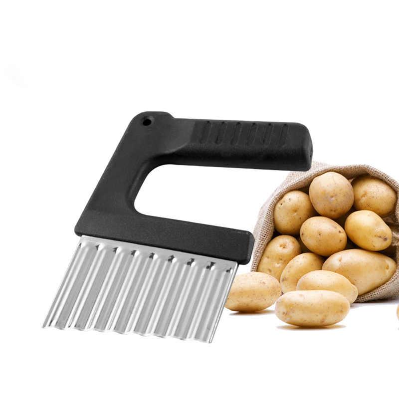 Onda De Corte De Máquina De Batata Frita de Aço inoxidável Vegetais Fazer Acessórios de Cozinha Utilitário Fruto Descascador