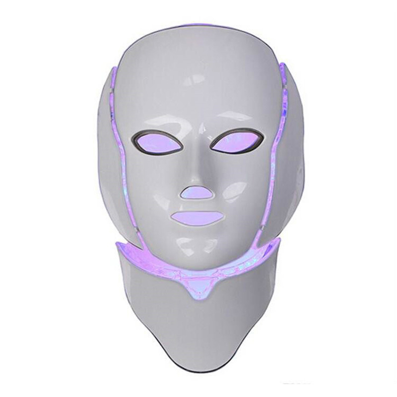 New Version  7 Photon Colors For Face And Neck Home Use Skin Rejuvenation PDT Light Therapy LED Facial Mask With LED Face Mask