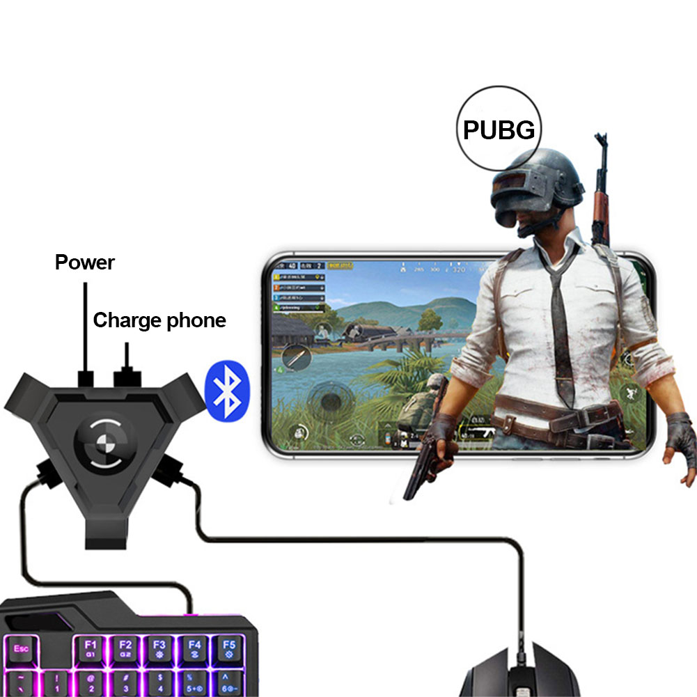 <font><b>USB</b></font> Gamepad Controller Set <font><b>Bluetooth</b></font> 4.1 Phone Black Mobile <font><b>Keyboard</b></font> Mouse Plug And Play <font><b>Converter</b></font> ABS PC Adapter Gaming Set image