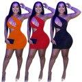 Сексуальное платье на одно плечо с вырезами, женские облегающие мини-платья без рукавов, летнее клубвечерние вечернее платье, одежда 2021 Y2k, к...