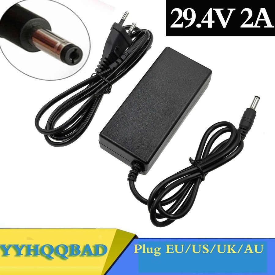 29.4V 2A lithium battery Charger for 24V 25.2V 25.9V Electric Scooter electric