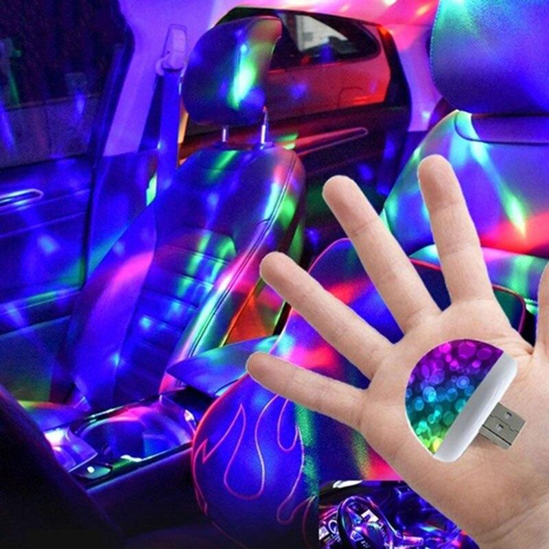 2020 Новый Многоцветный USB LED автомобильный комплект для внутреннего освещения атмосферный свет Неоновые Красочные лампы интересные портати... title=