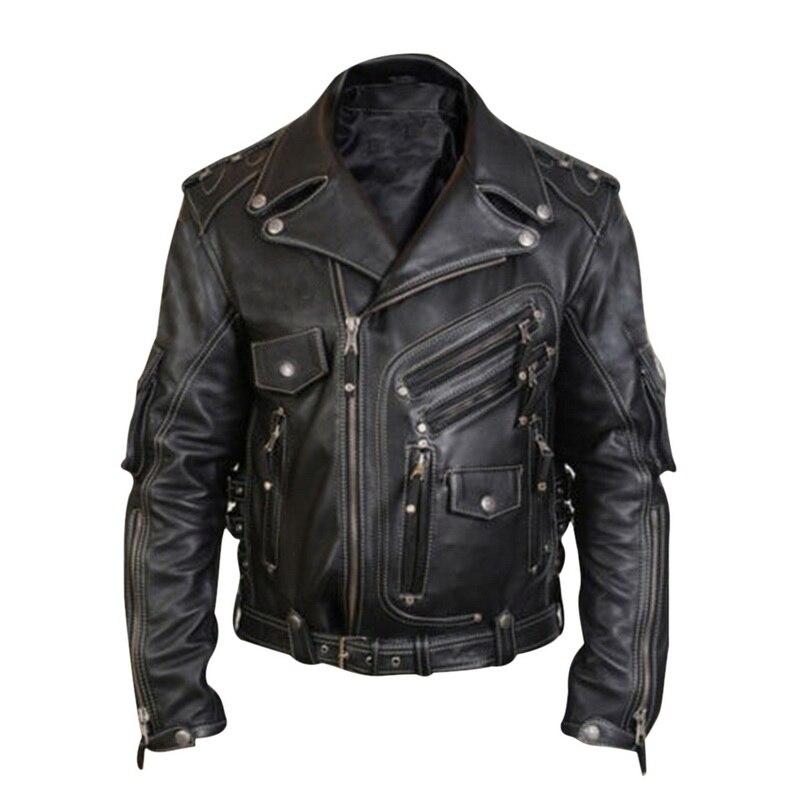 Chaquetas de cuero de lujo para hombres, chaqueta de motociclista de moda informal, chaqueta de motociclista de invierno nuevo, Primavera, informal, para hombre, chaqueta de cuero