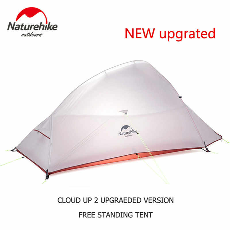 Naturehike mejorado Cloud Up Serie al aire libre impermeable ultraligero Backpacking 20D 210T Nylon Camping senderismo tienda con alfombra gratis