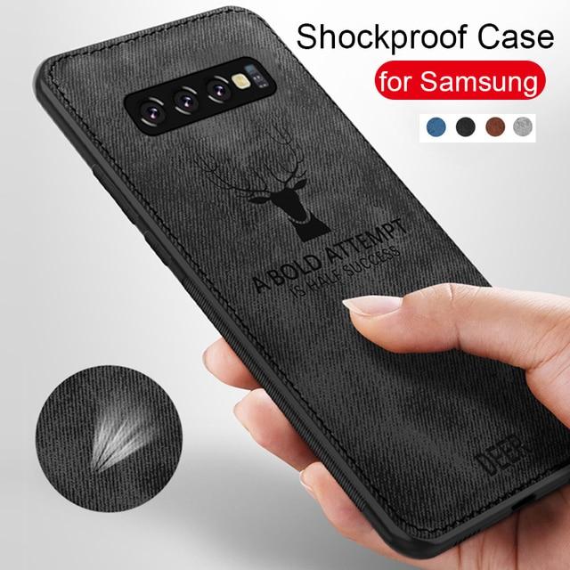 Cloth Fabric Deer Case For Samsung Galaxy A50 A40 A70 A20 A10 A30 Back Case For Samsung S8 S9 S10 Plus S10e S10 A7 2018 Capa 6