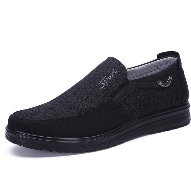 Парусиновые мужские туфли 4