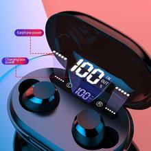 C8S  TWS Wireless Earphones 5.0 Bluetooth Earphone 3D Stereo With Mic 3000mAh LED Digital Power Bank Noise Reduction Headphones