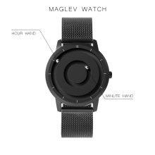 EUTOUR New Innovative Blue Gold Magnetic Metal Multifunctional Watch Mens Fashion Sports Quartz Watch Simple Mens Watch