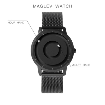 EUTOUR New Innovative Blue Gold Magnetic Metal Multifunctional Watch Mens Fashion Sports Quartz Simple