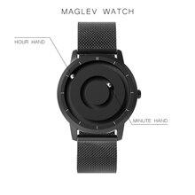 EUTOUR yeni yenilikçi mavi altın manyetik Metal çok fonksiyonlu izle erkek moda spor Quartz saat basit erkek saati